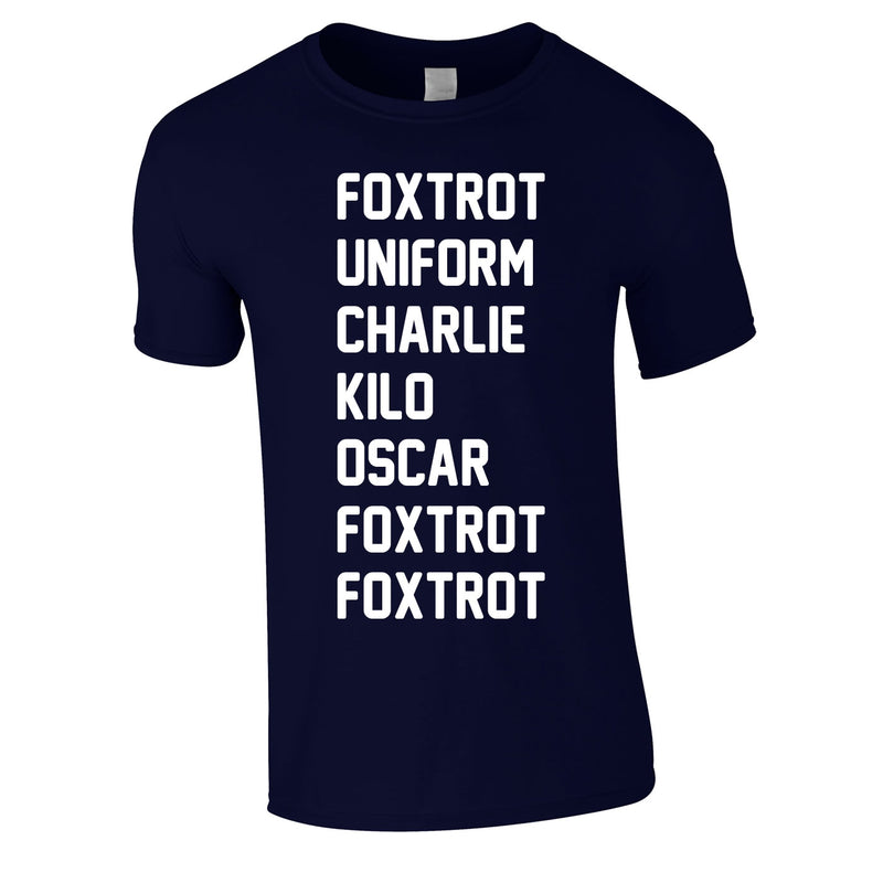 Foxtrot Uniform Charlie Kilo Tee In Navy