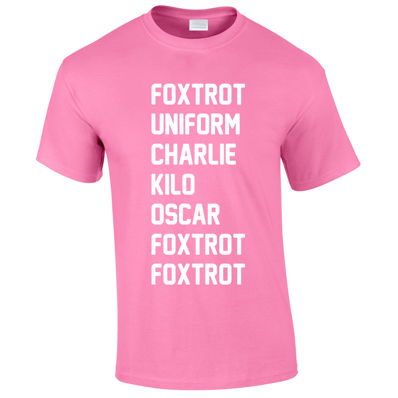 Foxtrot Uniform Charlie Kilo Tee In Pink