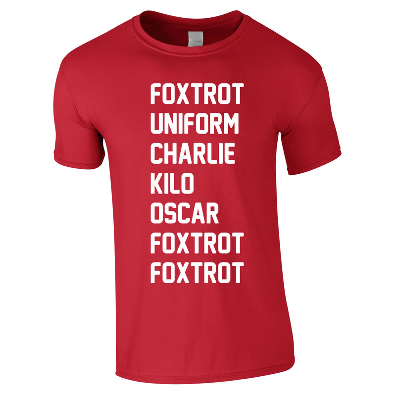 Foxtrot Uniform Charlie Kilo Tee In Red