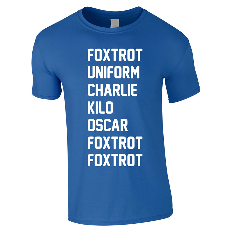 Foxtrot Uniform Charlie Kilo Tee In Royal