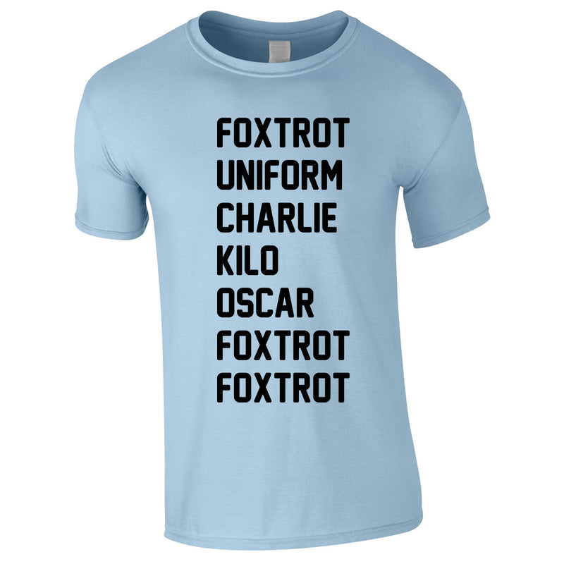 Foxtrot Uniform Charlie Kilo Tee In Sky