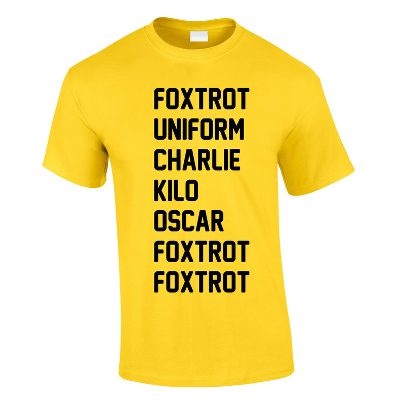 Foxtrot Uniform Charlie Kilo Tee In Yellow