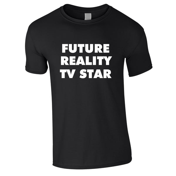 Future Reality TV Star Tee In Black