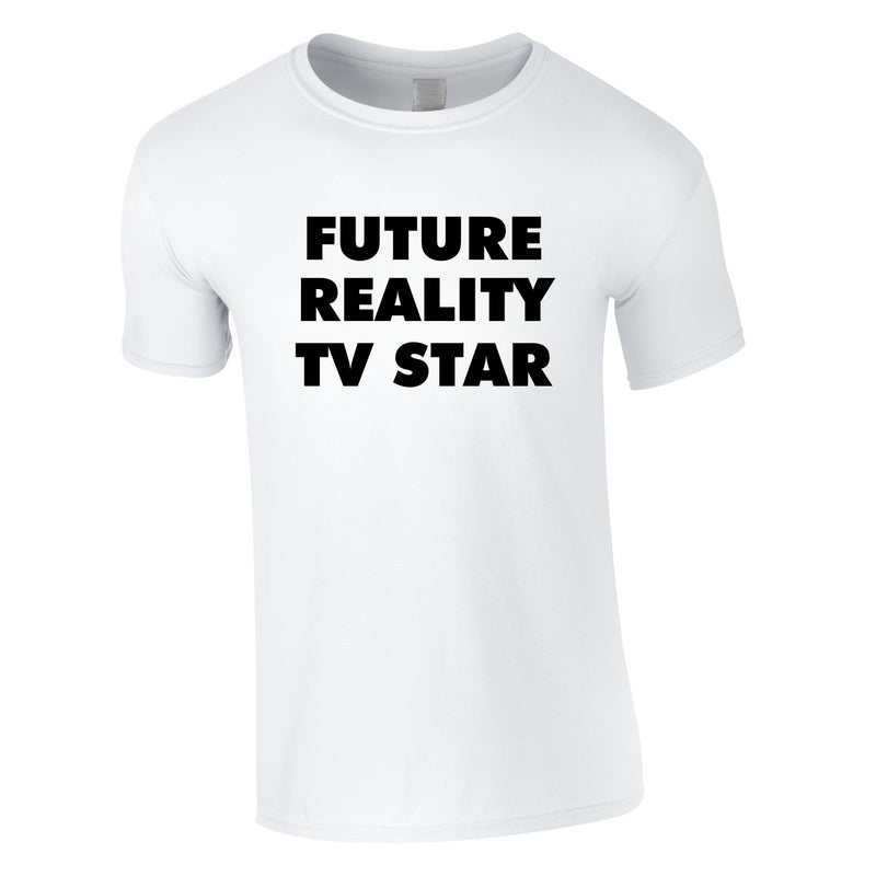 Future Reality TV Star Tee In White