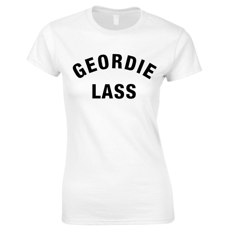 Geordie Lass Top In White