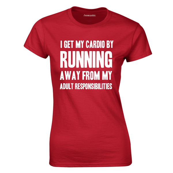 SALE - I Get My Cardio Womens Tee - Medium