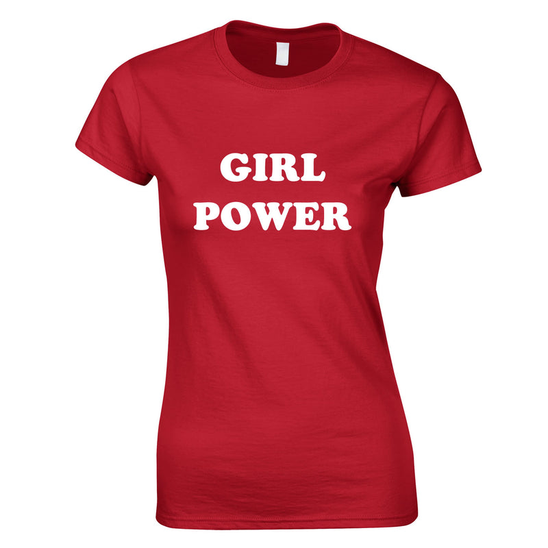 Girl Power Top In Red