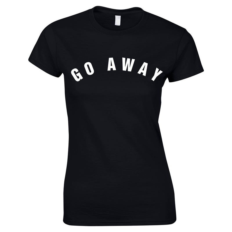 Go Away Women's Top In Black