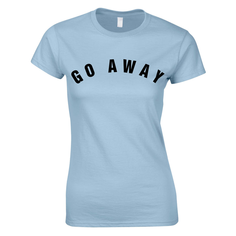 Go Away Women's Top In Sky
