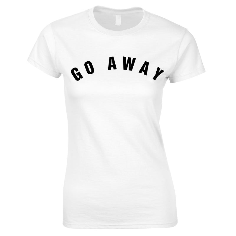 Go Away Women's Top In White