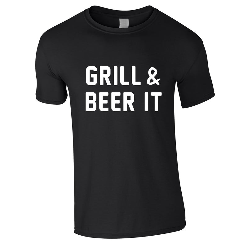 Grill And Beer It Tee In Black
