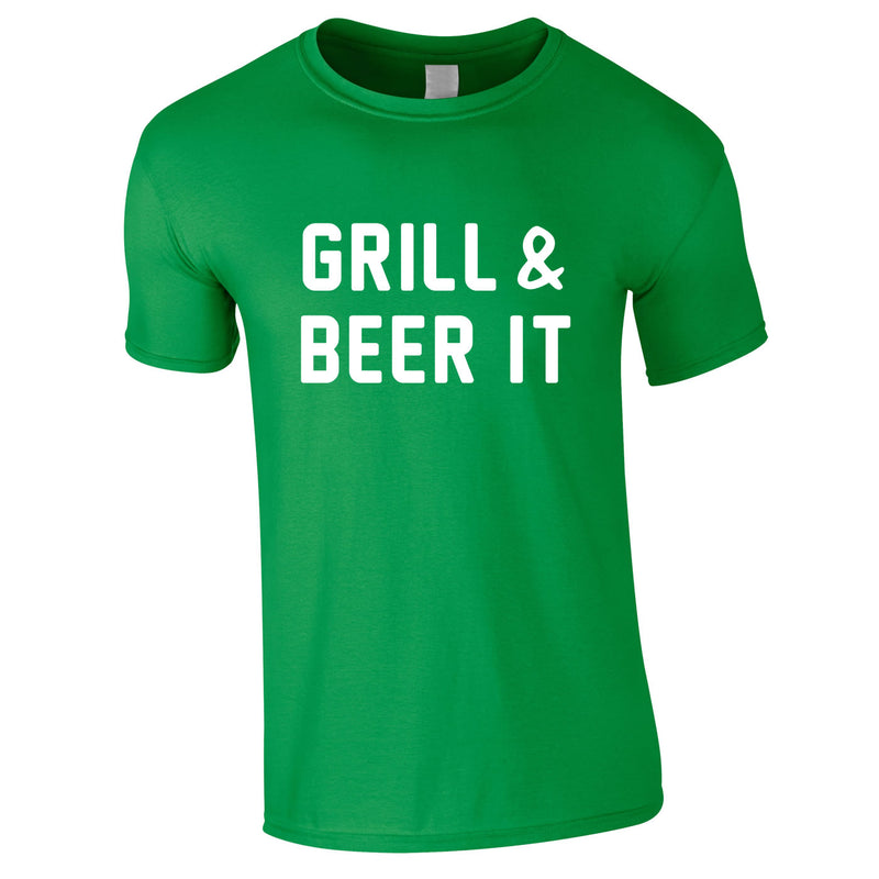 Grill And Beer It Tee In Green