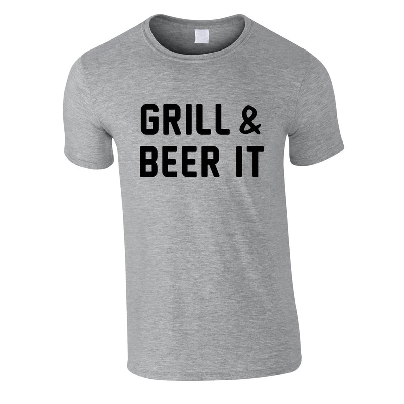 Grill And Beer It Tee In Grey