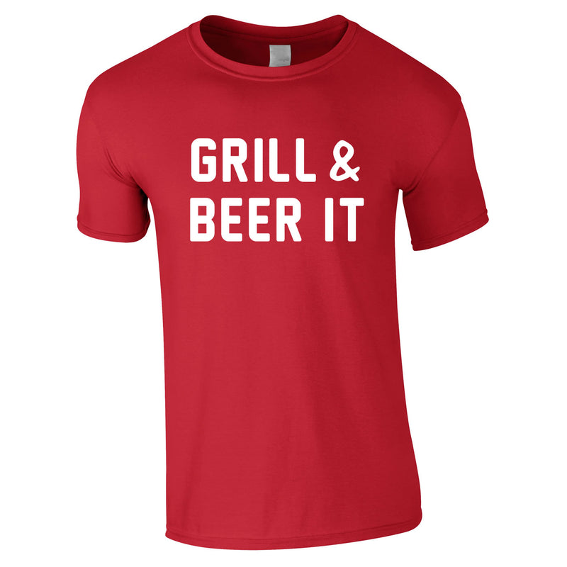 Grill And Beer It Tee In Red