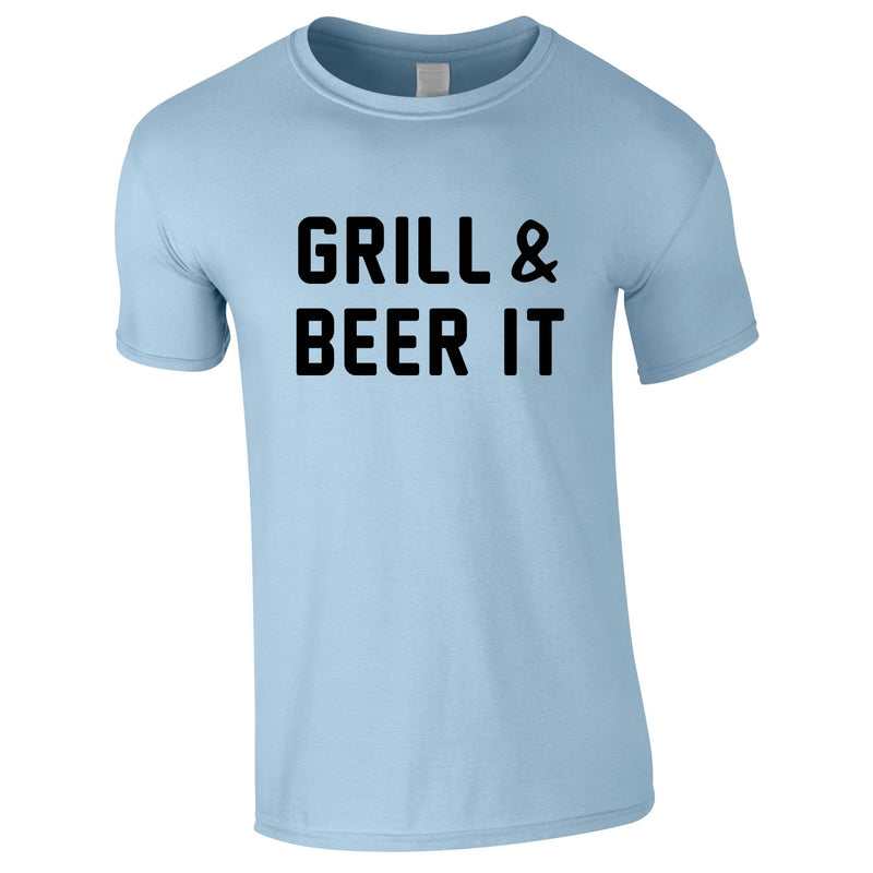 Grill And Beer It Tee In Sky
