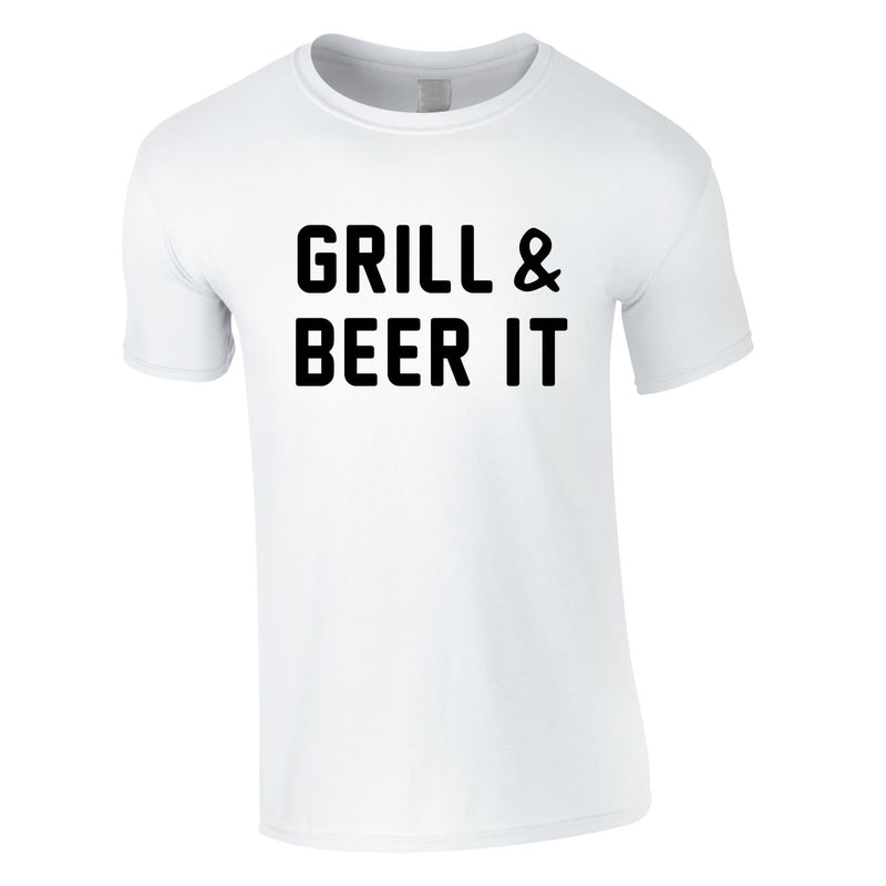 Grill And Beer It Tee In White