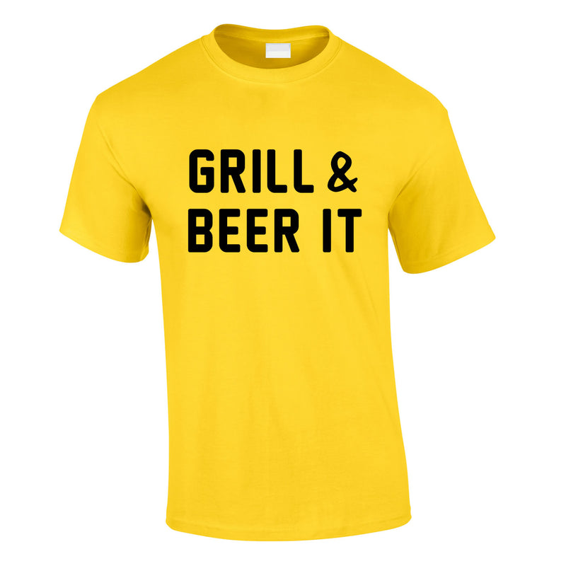 Grill And Beer It Tee In Yellow