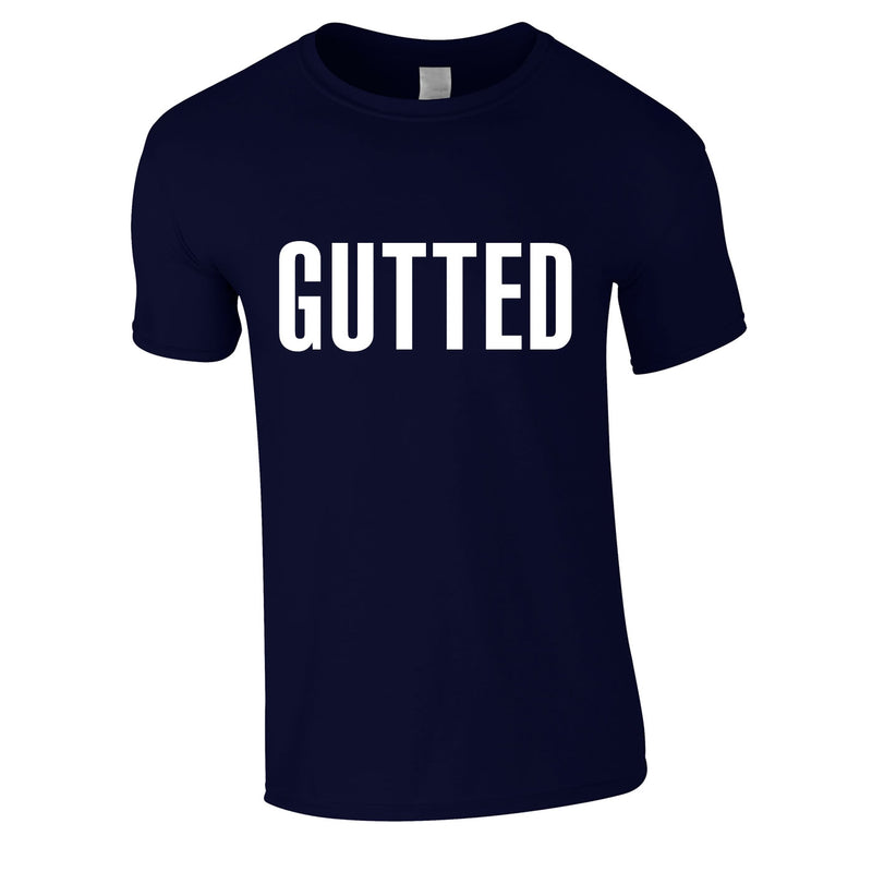 Gutted Tee In Navy
