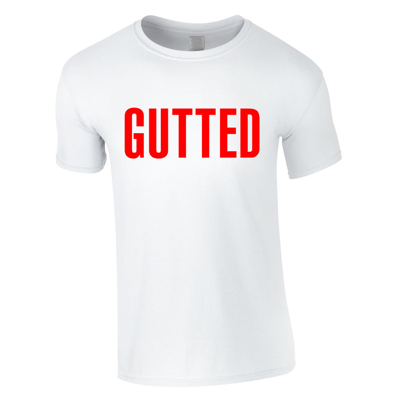 Gutted Tee In White