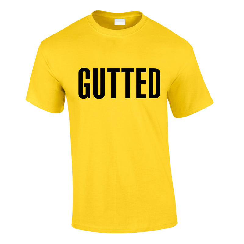 Gutted Tee In Yellow