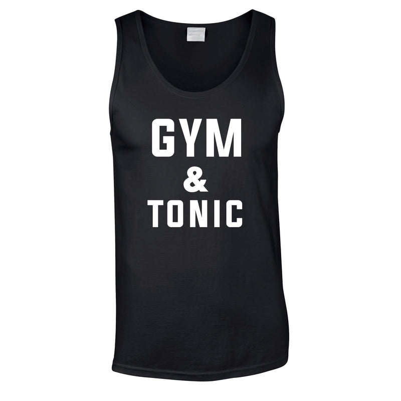 Gym & Tonic Vest In Black