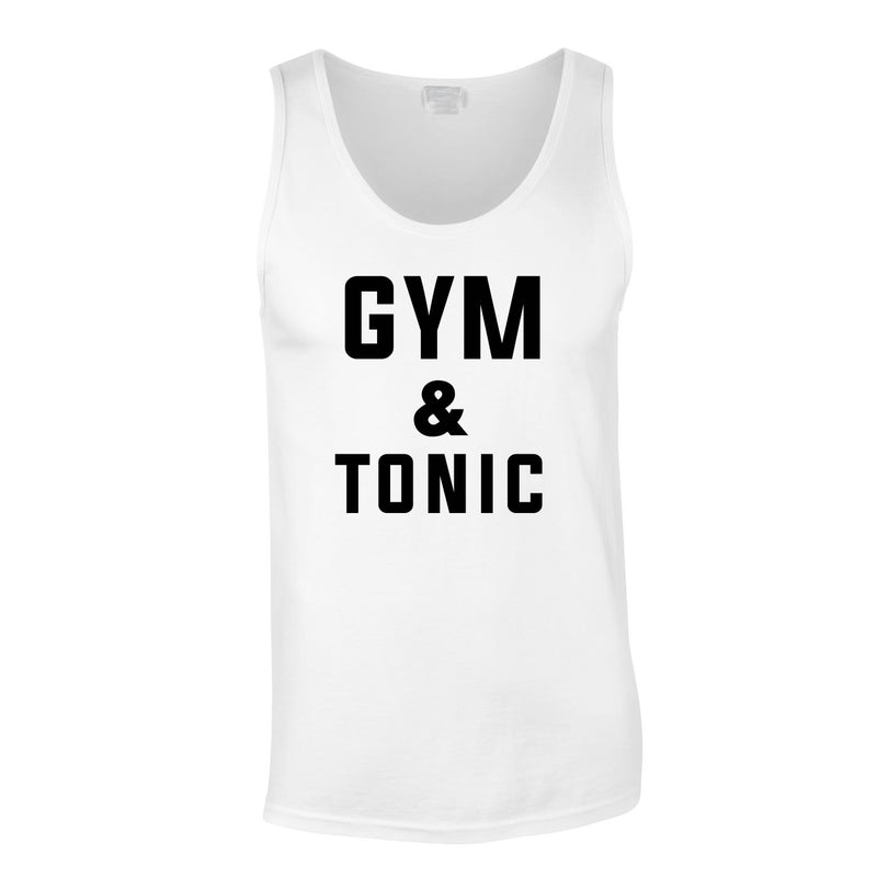 Gym & Tonic Vest In White