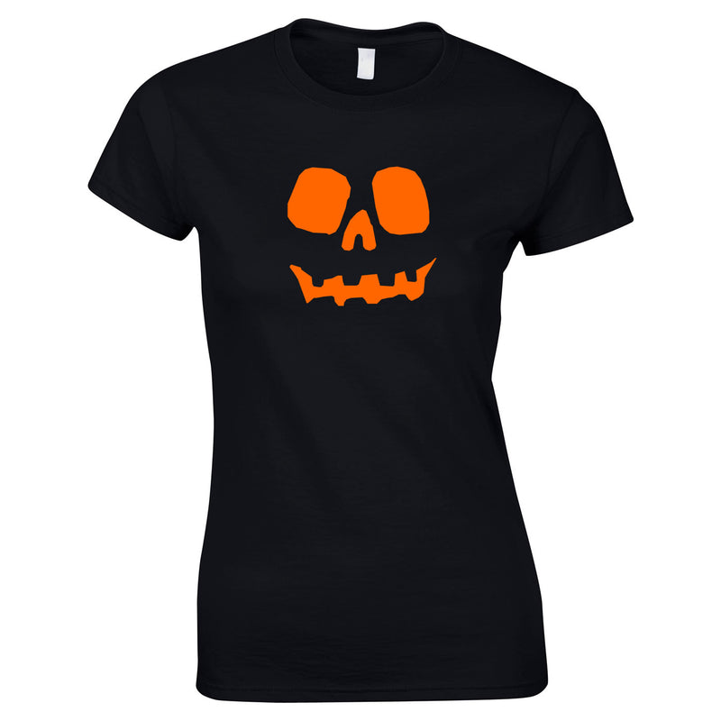 Halloween Pumpkin Women's Top in Black