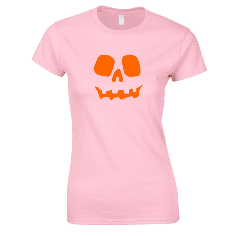 Halloween Pumpkin Women's Top in Pink
