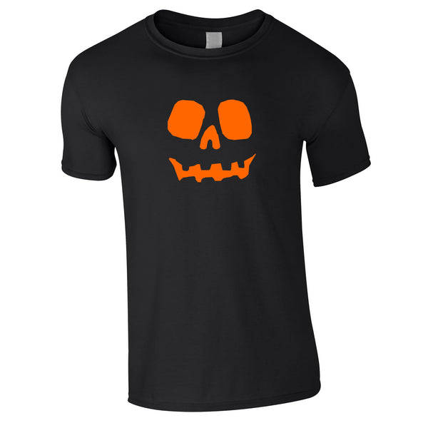 Halloween Pumpkin Tee In Black