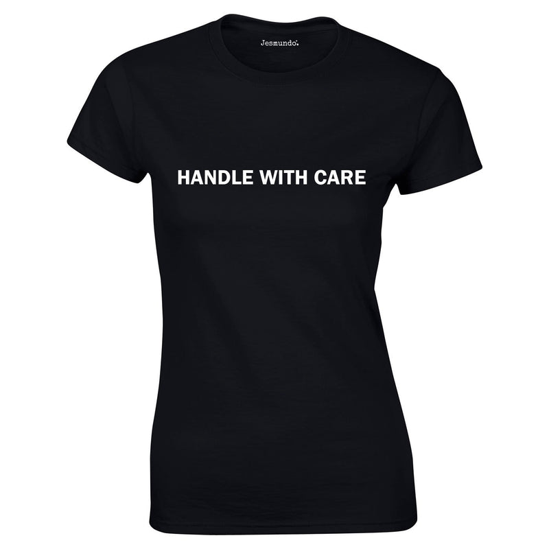 Handle With Care Ladies Top In Black