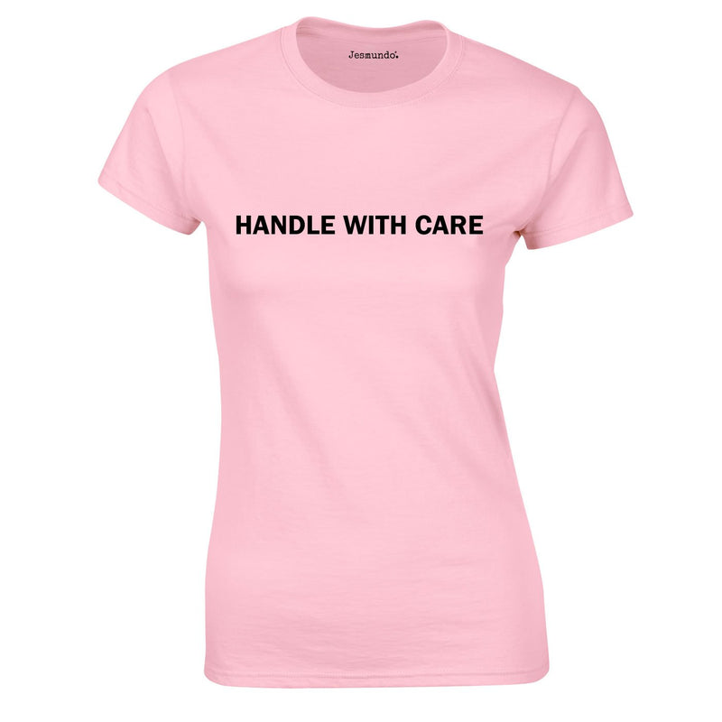 Handle With Care Ladies Top In Pink