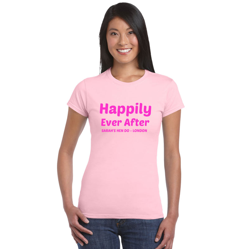 Happily Ever After Hen Party Personalised Tops