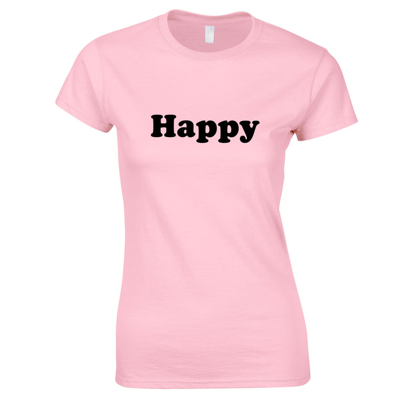 Happy Tee In Pink