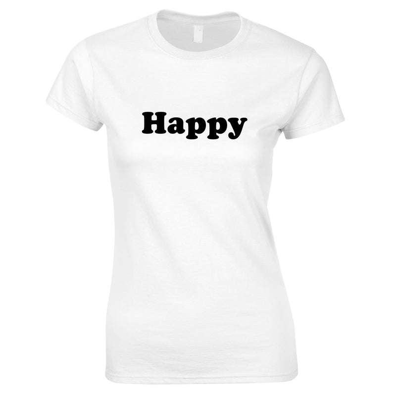 Happy Tee In White
