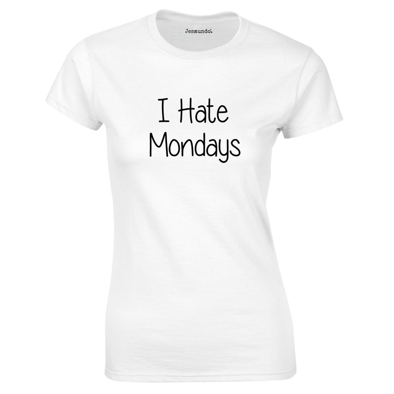 I Hate Mondays Women's Top In White