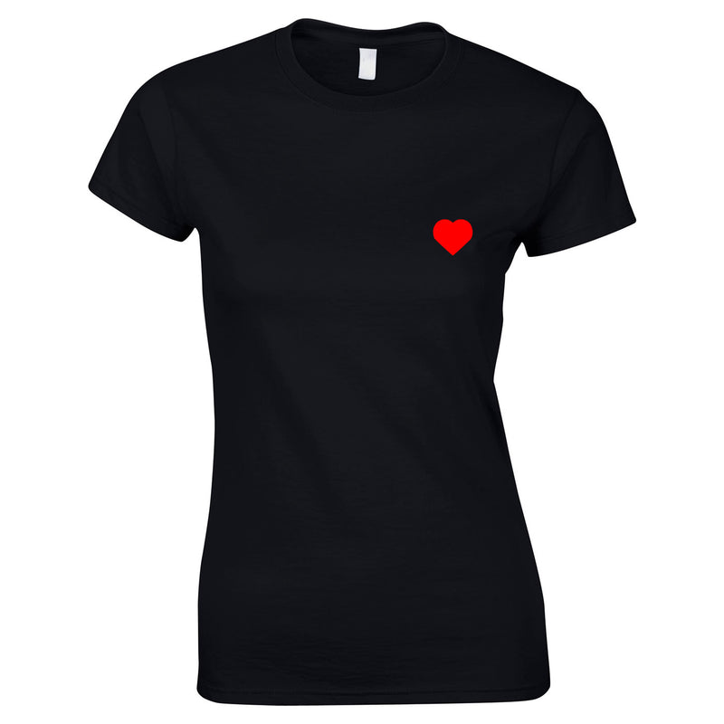 Heart Small Graphic Logo Top In Black