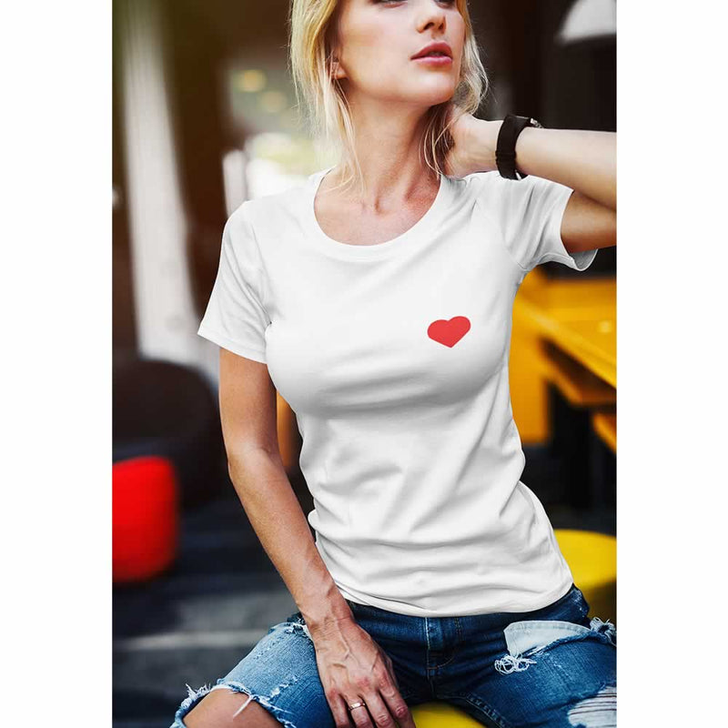 Heart Graphic Printed Top