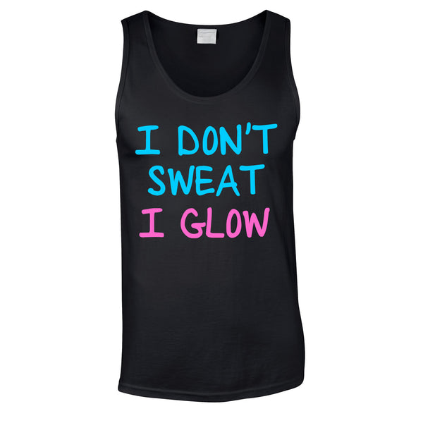 I Don't Sweat I Glow Vest In Black