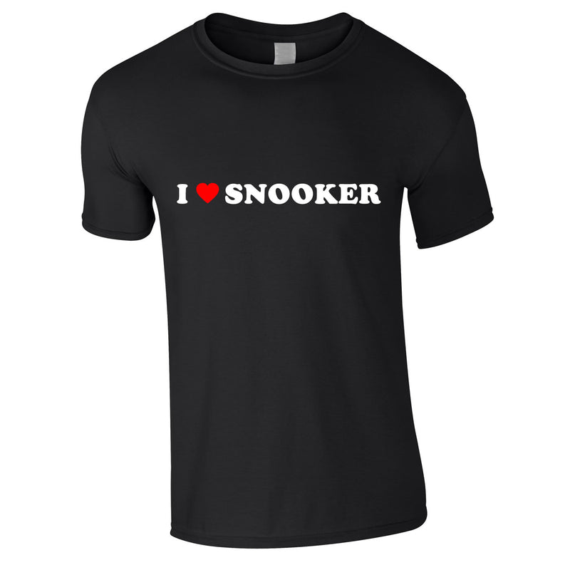 I Love Snooker Tee In Black