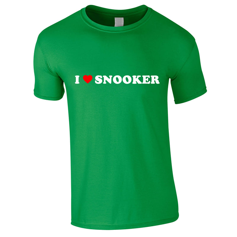 I Love Snooker Tee In Green
