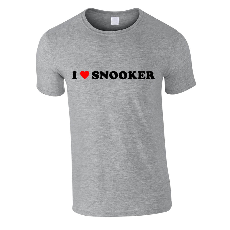 I Love Snooker Tee In Grey