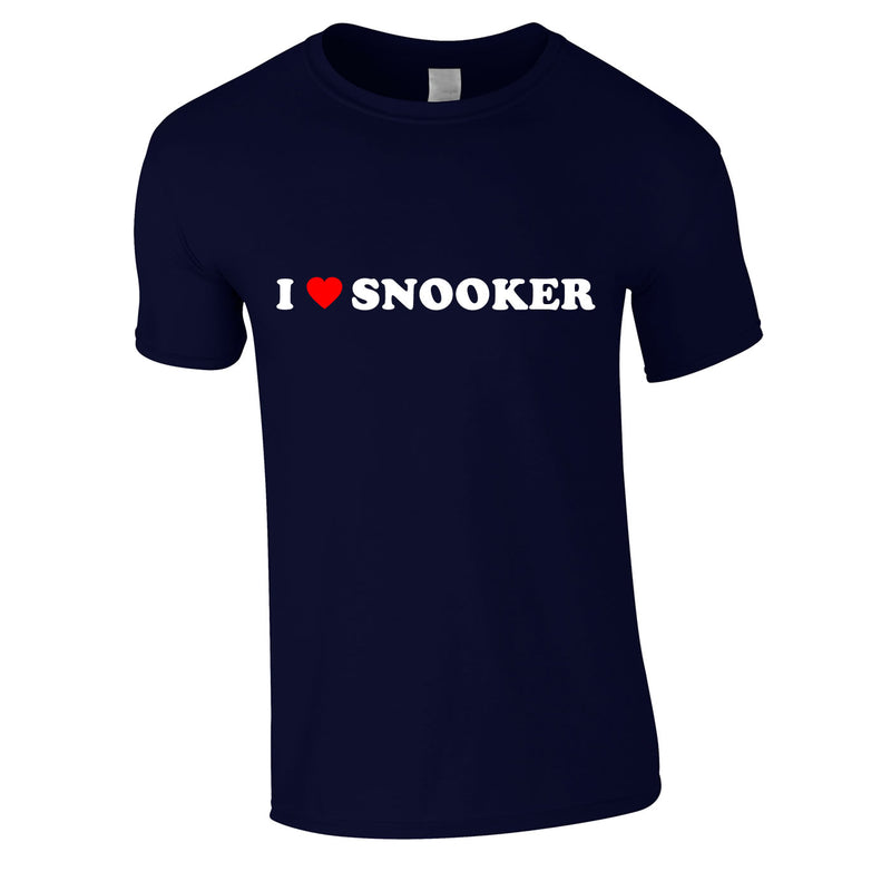 I Love Snooker Tee In Navy