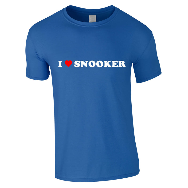 I Love Snooker Tee In Royal