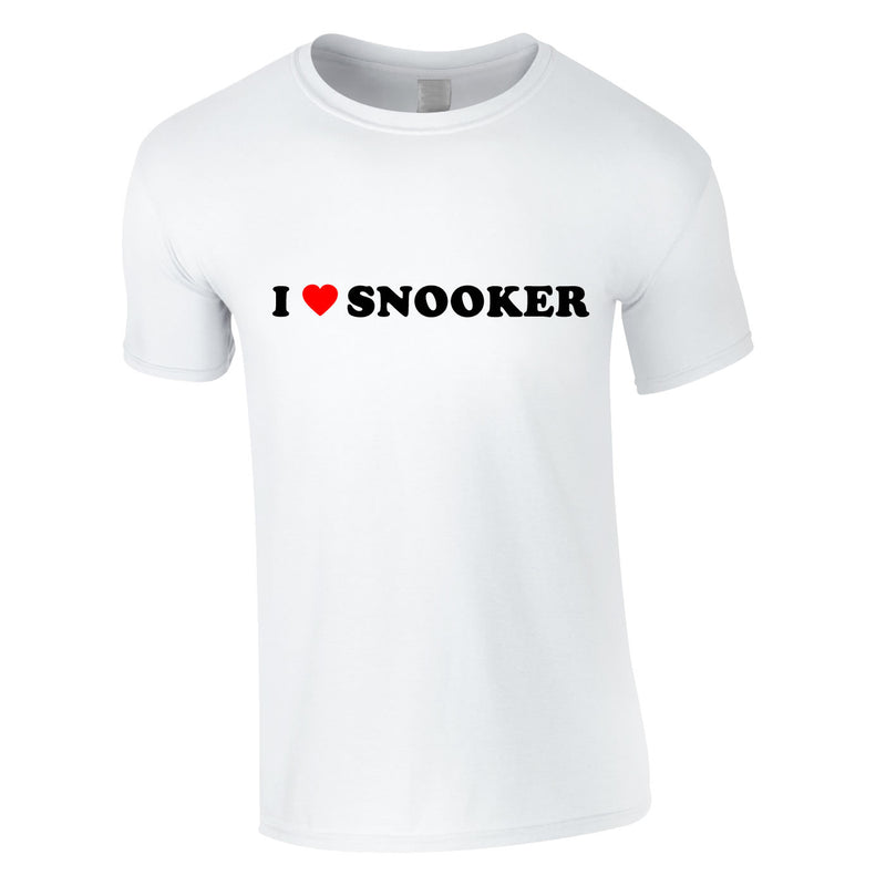 I Love Snooker Tee In White