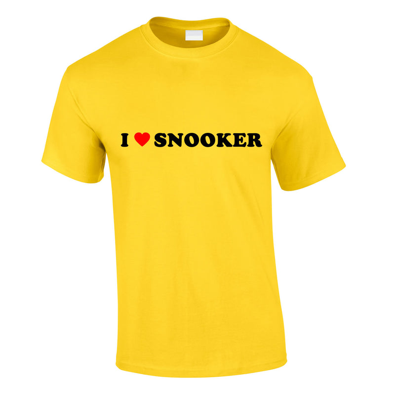 I Love Snooker Tee In Yellow