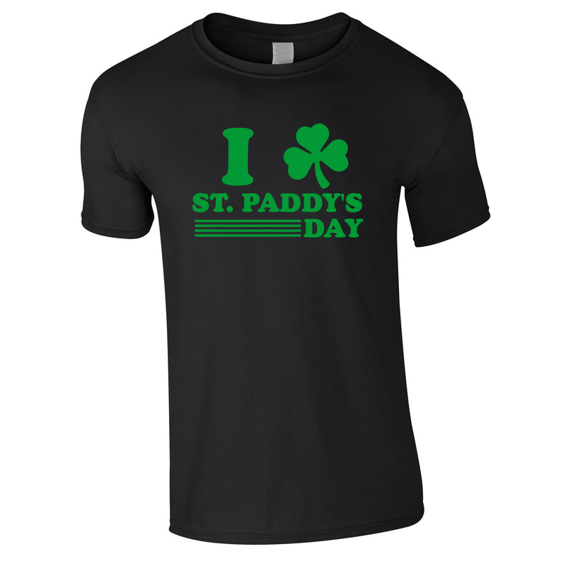 I Shamrock St. Paddy's Day Tee In Black