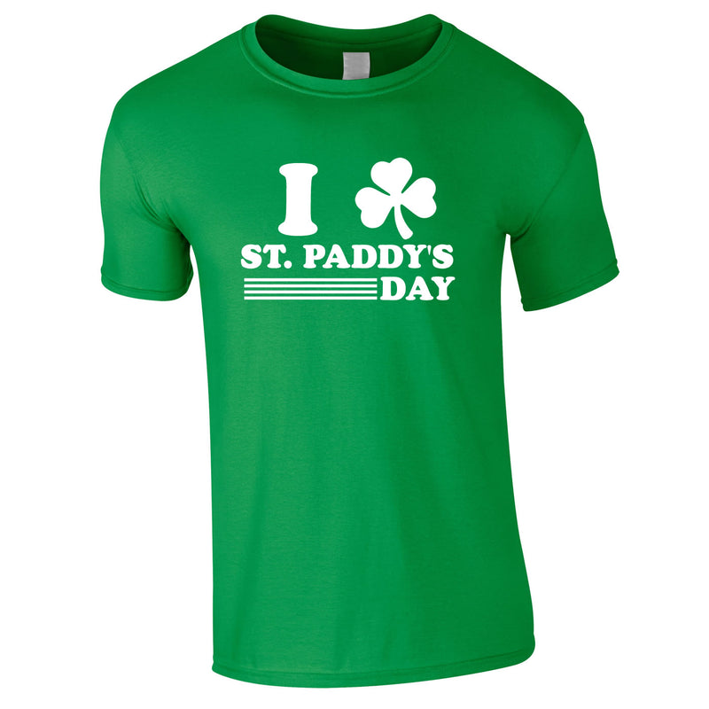 I Shamrock St. Paddy's Day Tee In Green