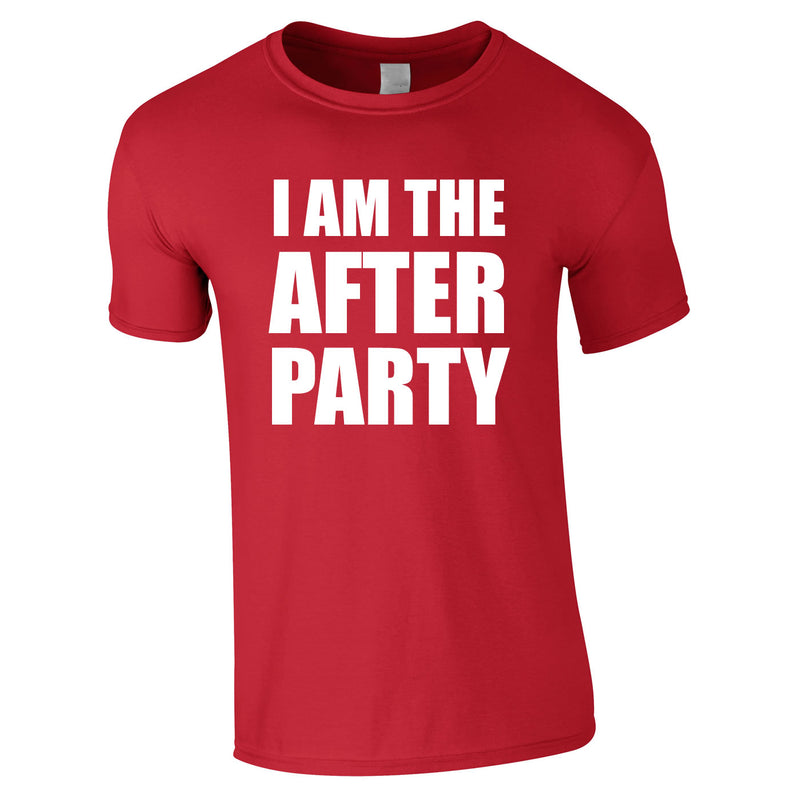 I Am The After Party Tee In Red