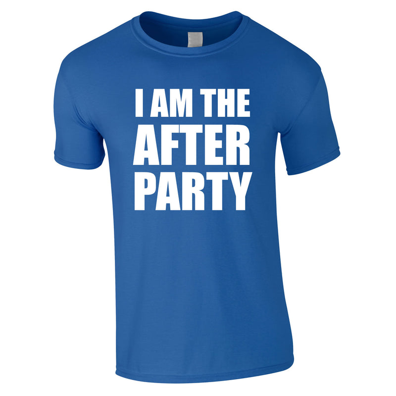 I Am The After Party Tee In Royal