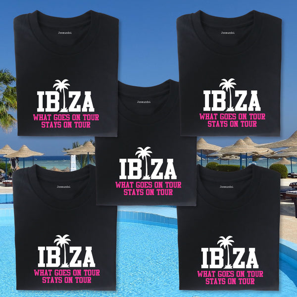 Ibiza Girls Holiday T Shirts Personalised